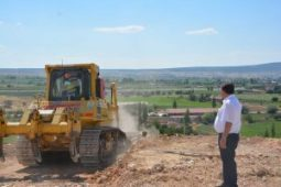 TOKİ 800 konutlarda alternatif yol çalışması başladı