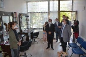 Dinar'da Esnaflara Korona virüs denetlemeleri sıklaştırıldı