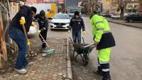 Dinar'da Şehir İçi Temizlik Çalışmaları