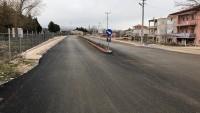 Yeni yapılan duble yola fidan dikimi yapıldı