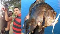 Dinarlı Hemşerimiz 35 Kilo Ağırlığındaki Balığı Yakaladı