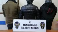 Dinar Emniyeti 3 Kişiye Uyuşturucu Operasyonu Düzenledi