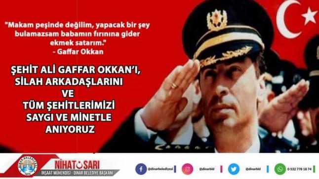 Başkan Sarı'dan Ali Gaffar Okkan'ı Anma Mesajı