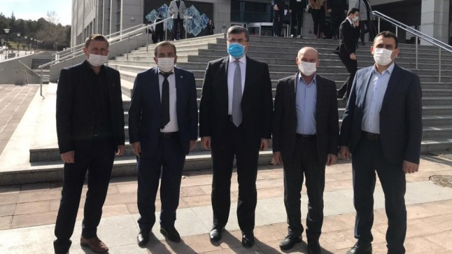 Başkan Çiçek Milletvekili Özkaya'yı Ziyaret Etti