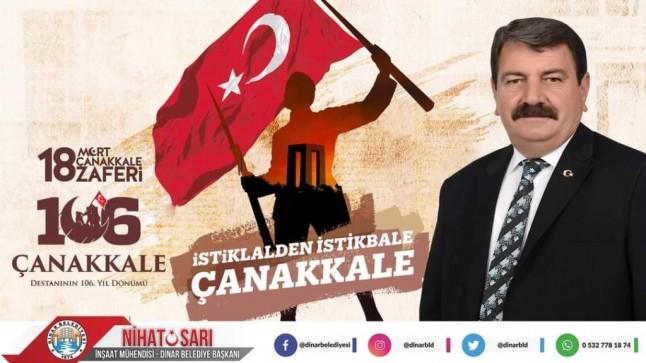 Başkan Sarı'dan 18 Mart Çanakkale Zaferi ve Şehitleri Anma Günü mesajı