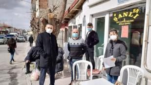 Dinar'da Sıkı Korona Virüs denetlemesi