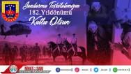 Başkan Sarı'dan Jandarma Teşkilatı'nın 182'inci kuruluş yıldönümü mesajı