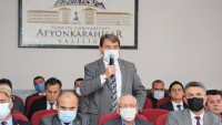 Başkan Sarı, İl Koordinasyon toplantısında Dinar'ın sorunlarını dile getirdi