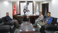 Dinar Yeni OEDAŞ Müdürü Güzelyayla'dan Başkan Sarı'ya ziyaret