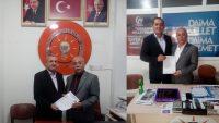 Dinar AK Parti'de İl Genele 2 Aday Başvuru Yaptı
