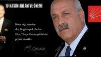 """""""ATATÜRK'Ü ANMAK, ANLAMAK VE FİKİRLERİNİ YAŞATMAK GÖREVİMİZDİR."""