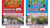 Dinar'da 7'inci Çiçek Festivali Başlıyor!!!