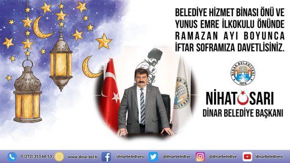 Belediye Başkanı Nihat Sarı'dan İftar'a Davet