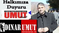 Dinar Umut Gazetesinden Basın Açıklaması