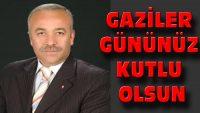 Ak Parti Dinar İlçe Başkanı Er'der Gaziler Günü Mesajı