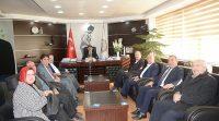 Yerel Yönetimler Başkan Yardımcısı Abdurrahman Öz den Başkan Sarı ya ziyaret